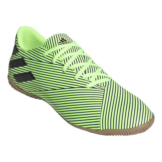 Chuteira Futsal Adidas Nemeziz 19 4 IN - Verde+Preto