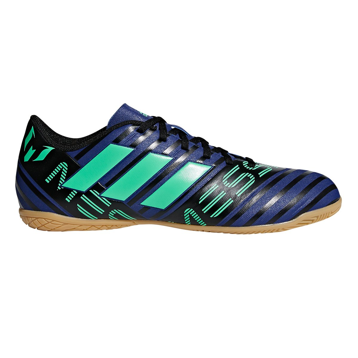 Chuteira Futsal Adidas Nemeziz Messi 17.4 IN - Marinho e Verde ... 168e4dc7603b2