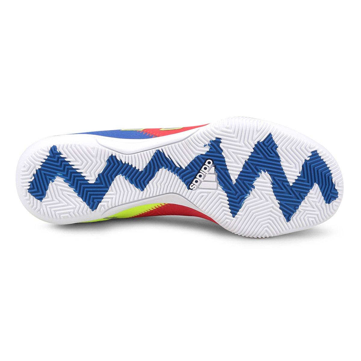 cc459deeab Chuteira Futsal Adidas Nemeziz Messi 18 3 IN - Vermelho e Azul ...