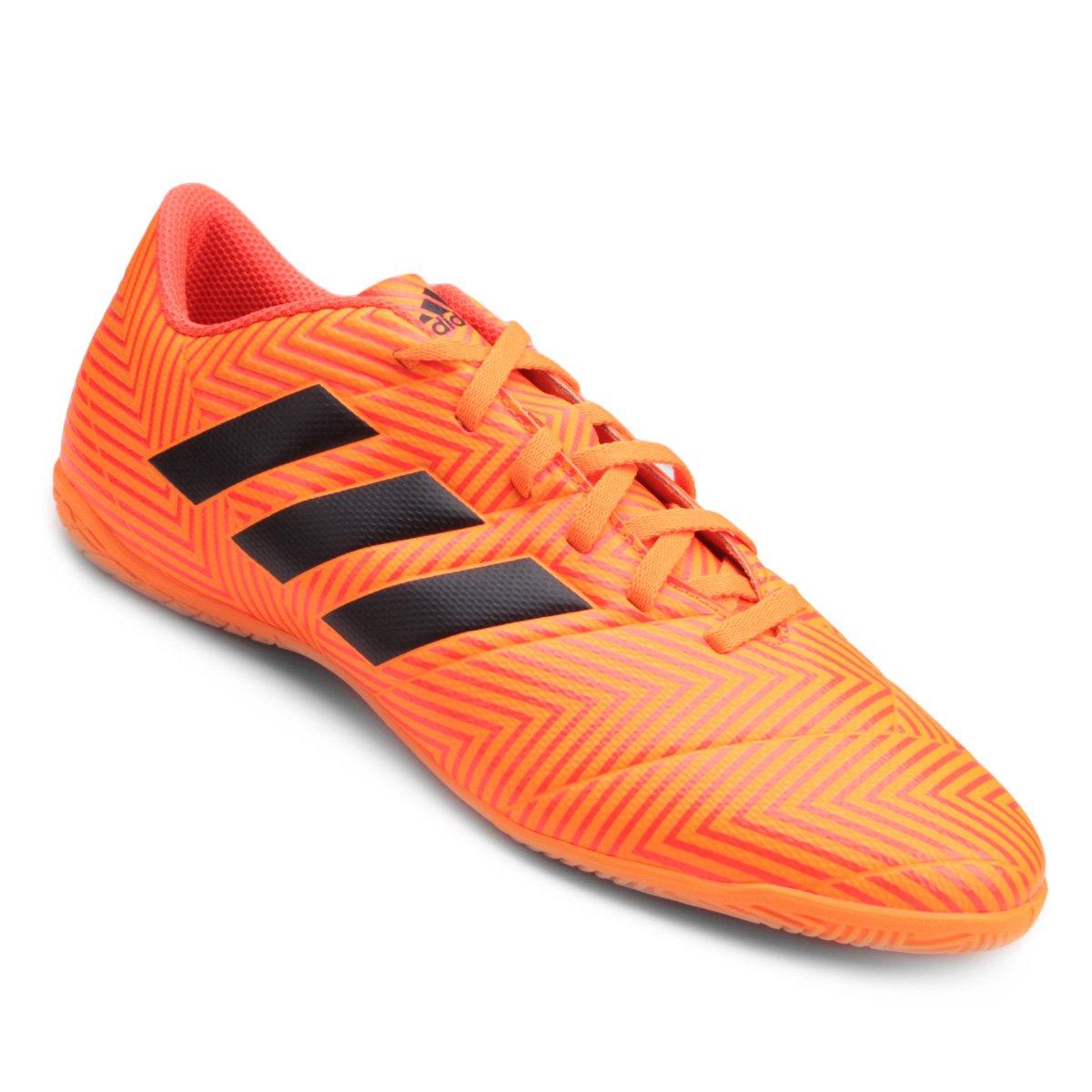 8c638539b17c9 Chuteira Futsal Adidas Nemeziz Tango 18 4 IN - Laranja e Preto | São Paulo  Mania