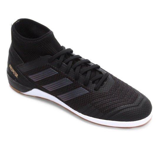 Chuteira Futsal Adidas Predator 19 3 IN - Preto