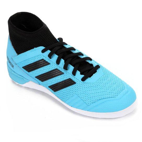 Chuteira Futsal Adidas Predator 19 3 IN - Azul+Preto
