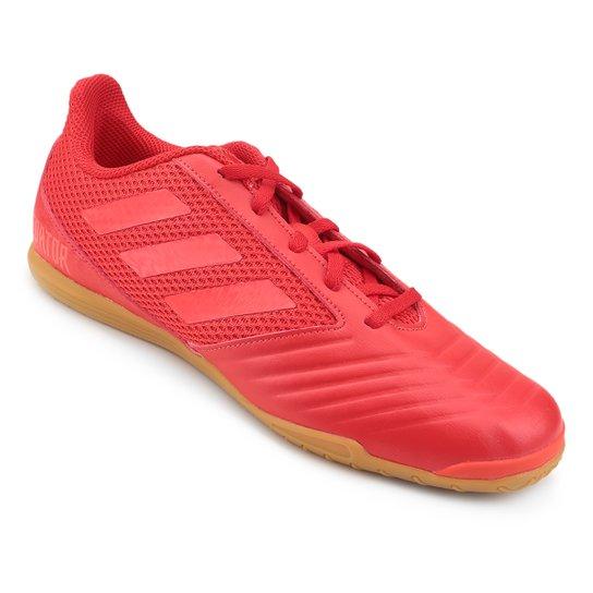 Chuteira Futsal Adidas Predator 19 4 IN - Vermelho+Preto