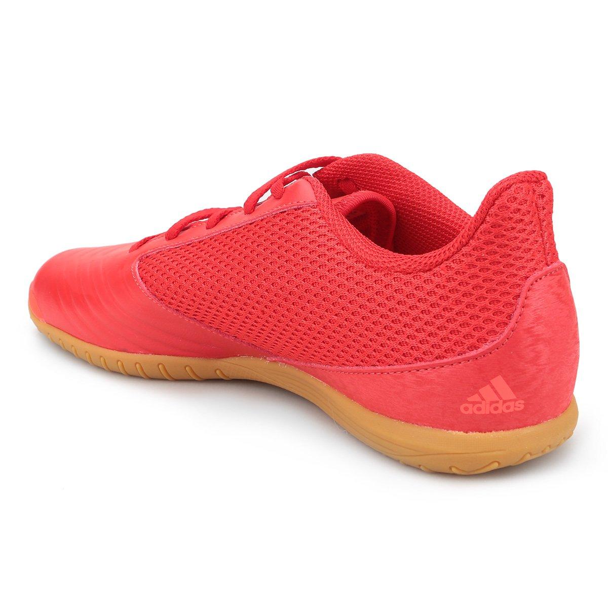 Chuteira Futsal Adidas Predator 19 4 IN - Vermelho e Preto - Compre ... 7965907fcf4ce