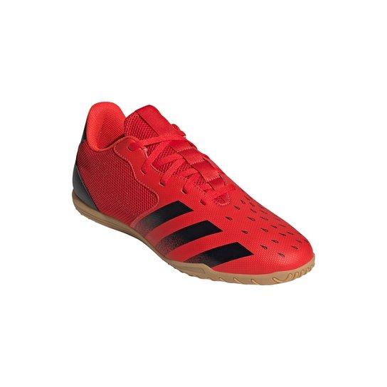 Chuteira Futsal Adidas Predator Freak 4 - Vermelho+Preto