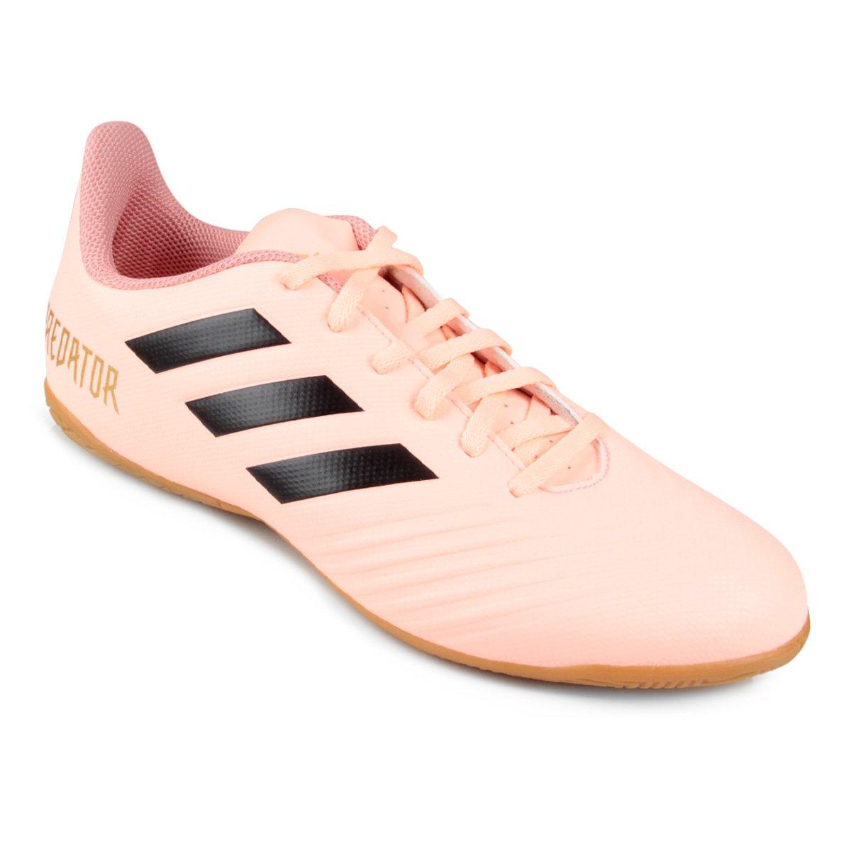 8ce9632ec Chuteira Futsal Adidas Predator Tan 18 4 IN - Rosa e Preto - Compre Agora