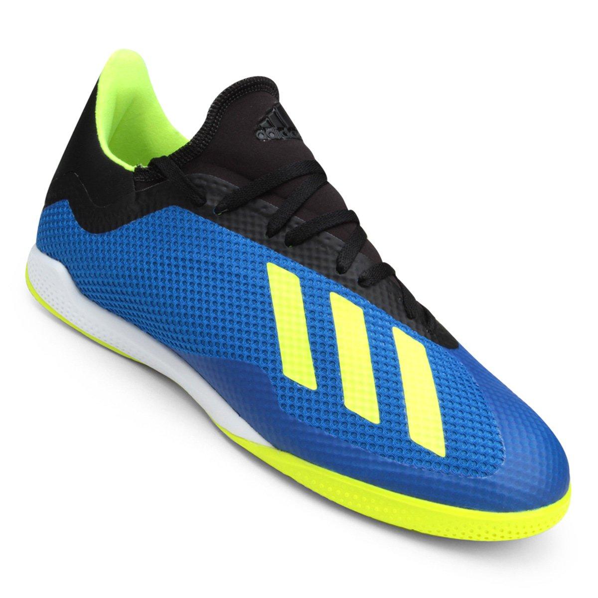 9f9d31bf24 Chuteira Futsal Adidas X Tango 18 3 IN - Azul e amarelo