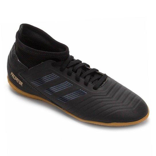 Chuteira Futsal Infantil Adidas Predator 19 3 IN - Preto