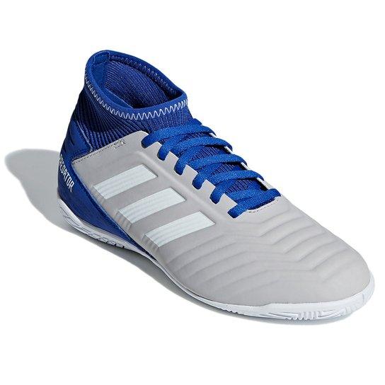 Chuteira Futsal Infantil Adidas Predator 19 3 IN - Cinza+Branco