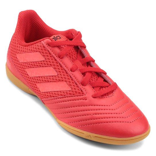 Chuteira Futsal Infantil Adidas Predator 19 4 IN - Vermelho+Preto