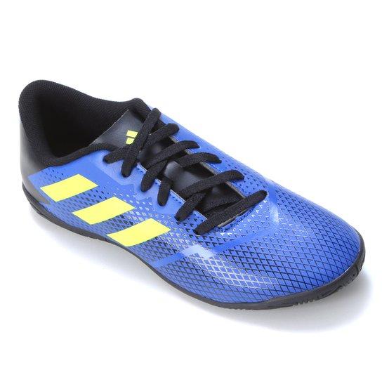 Chuteira Futsal Juvenil Adidas Artilheira IV - Azul Royal+Amarelo