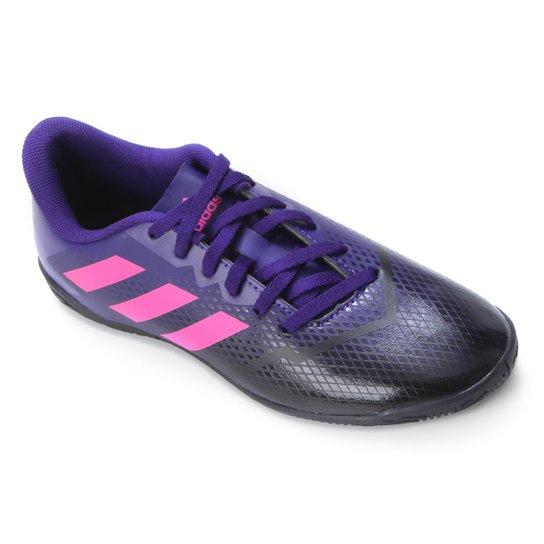Chuteira Futsal Juvenil Adidas Artilheira IV - Roxo+Rosa