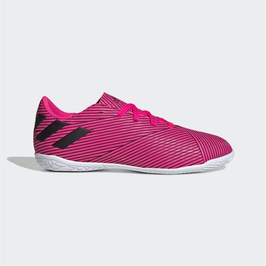 Chuteira Futsal Juvenil Adidas Nemeziz 19 4 IN - Pink+Preto