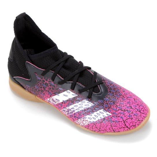 Chuteira Futsal Juvenil Adidas Predator Freak 3 - Preto+Branco