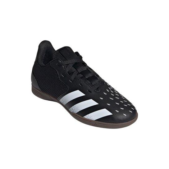 Chuteira Futsal Juvenil Adidas Predator Freak 4 - Preto+Branco