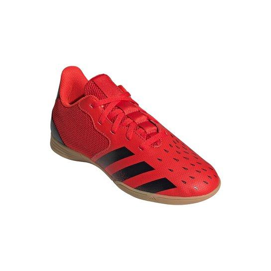 Chuteira Futsal Juvenil Adidas Predator Freak 4 - Vermelho+Preto