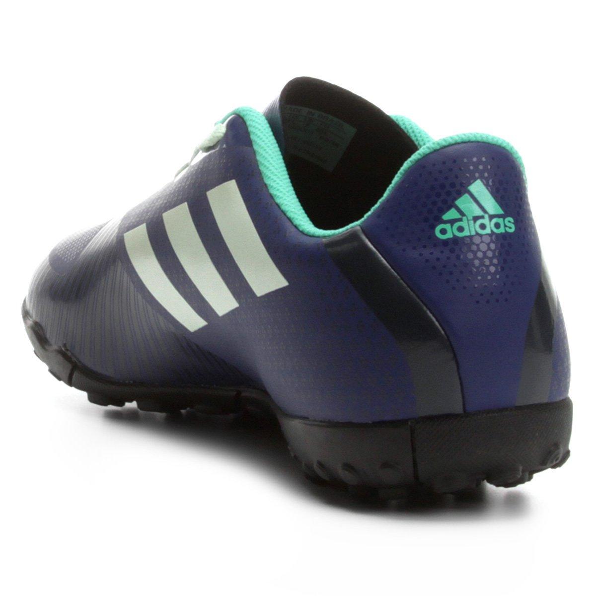 32def624a0 Chuteira Society Adidas Artilheira 18 TF - Azul e Verde - Compre ...