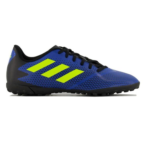 Chuteira Society Adidas Artilheira IV - Azul Royal+Amarelo