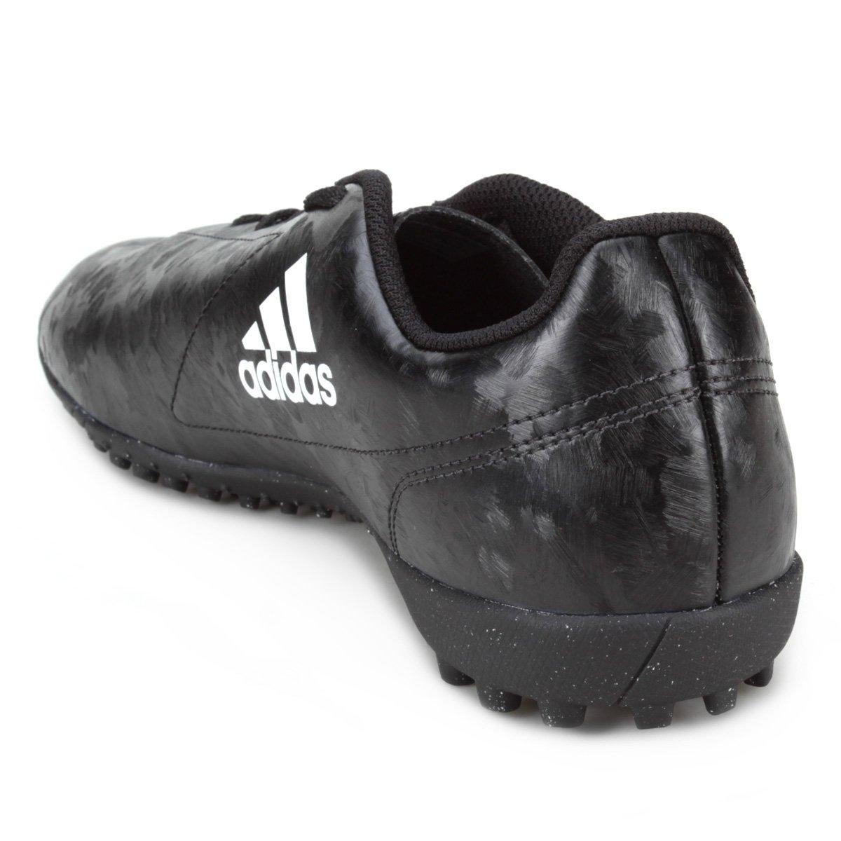 Chuteira Society Adidas Conquisto II TF - Preto e Vermelho - Compre ... 24c6eae1a6207