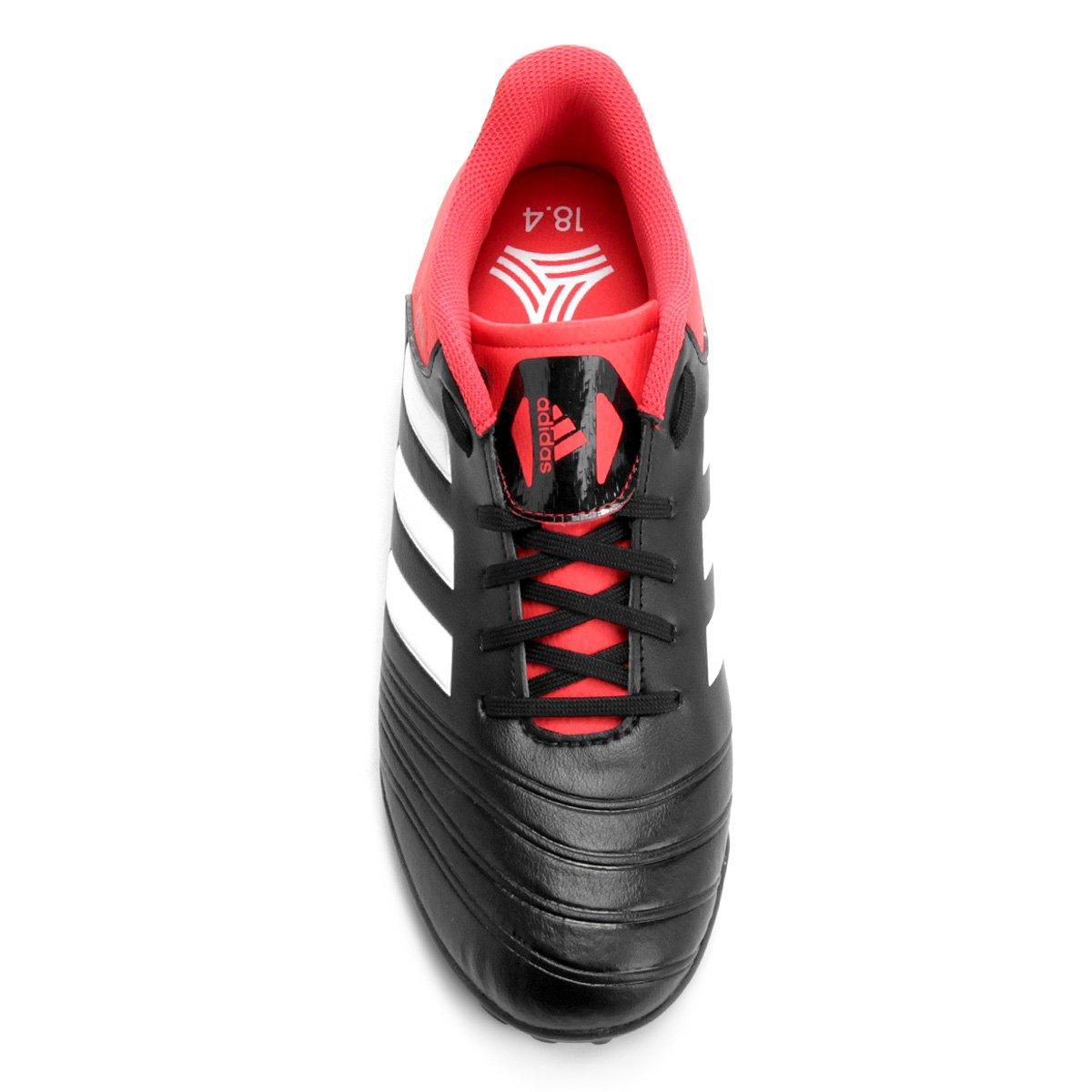 Chuteira Society Adidas Copa 18 4 TF - Preto e Vermelho - Compre ... cc5525f2f33ad