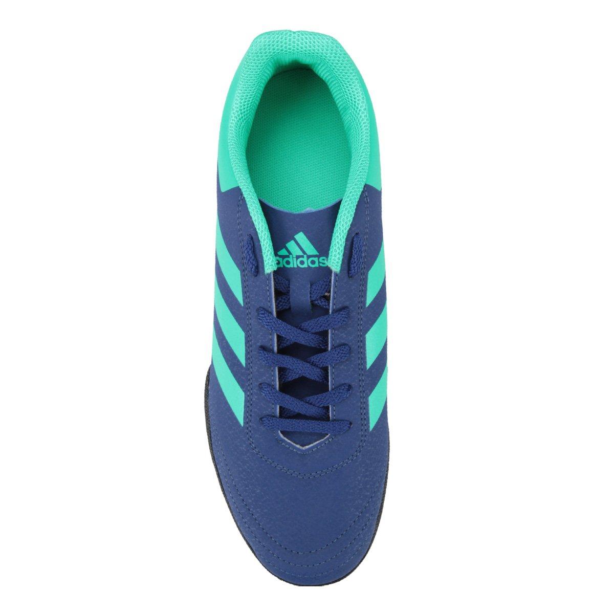 95af8b4d7f Chuteira Society Adidas Goletto 6 TF - Azul e Verde Água - Compre ...
