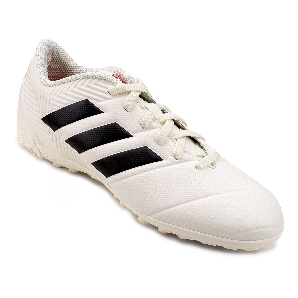 3addfc9d8fb30 Chuteira Society Adidas Nemeziz 18 4 TF - Branco e Preto - Compre Agora