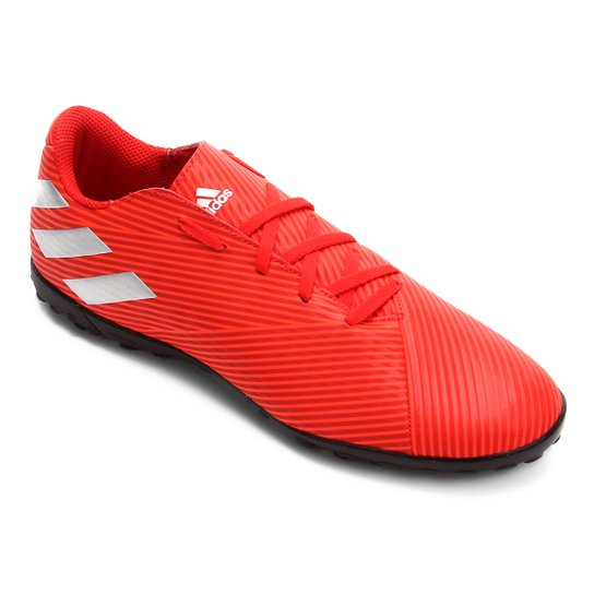 Chuteira Society Adidas Nemeziz 19 4 TF - Vermelho