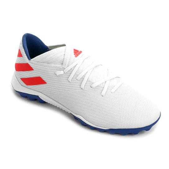 Chuteira Society Adidas Nemeziz Messi 19 3 TF - Branco
