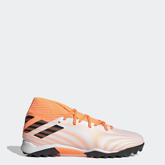 Chuteira Society Adidas Nemeziz Messi 20  3 - Branco+Preto