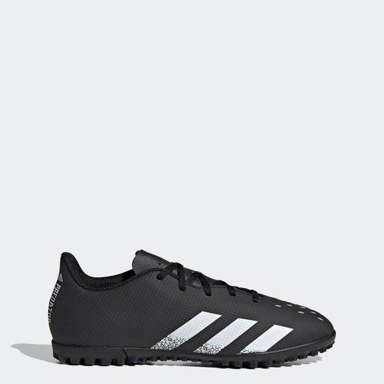 Chuteira Society Adidas Predator Freak 4 - Preto+Branco