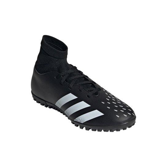 Chuteira Society Adidas Predator Freak S 4 - Preto+Branco