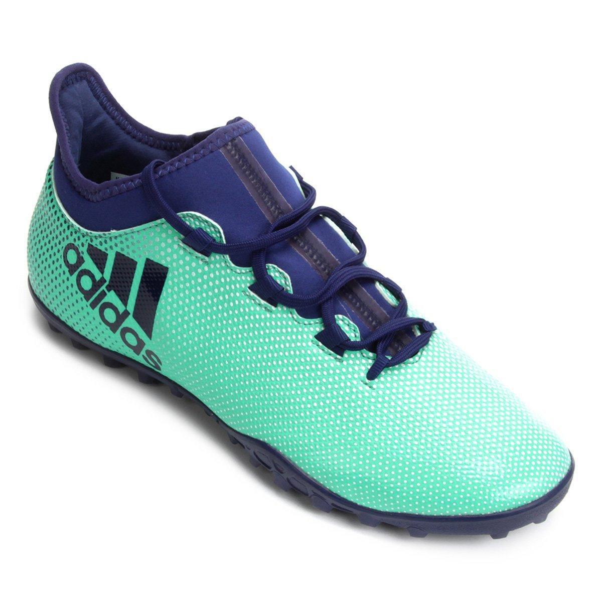 separation shoes 9ed59 768da Chuteira Society Adidas X 17.3 TF - Azul e Verde Água - Compre Agora   São  Paulo Mania
