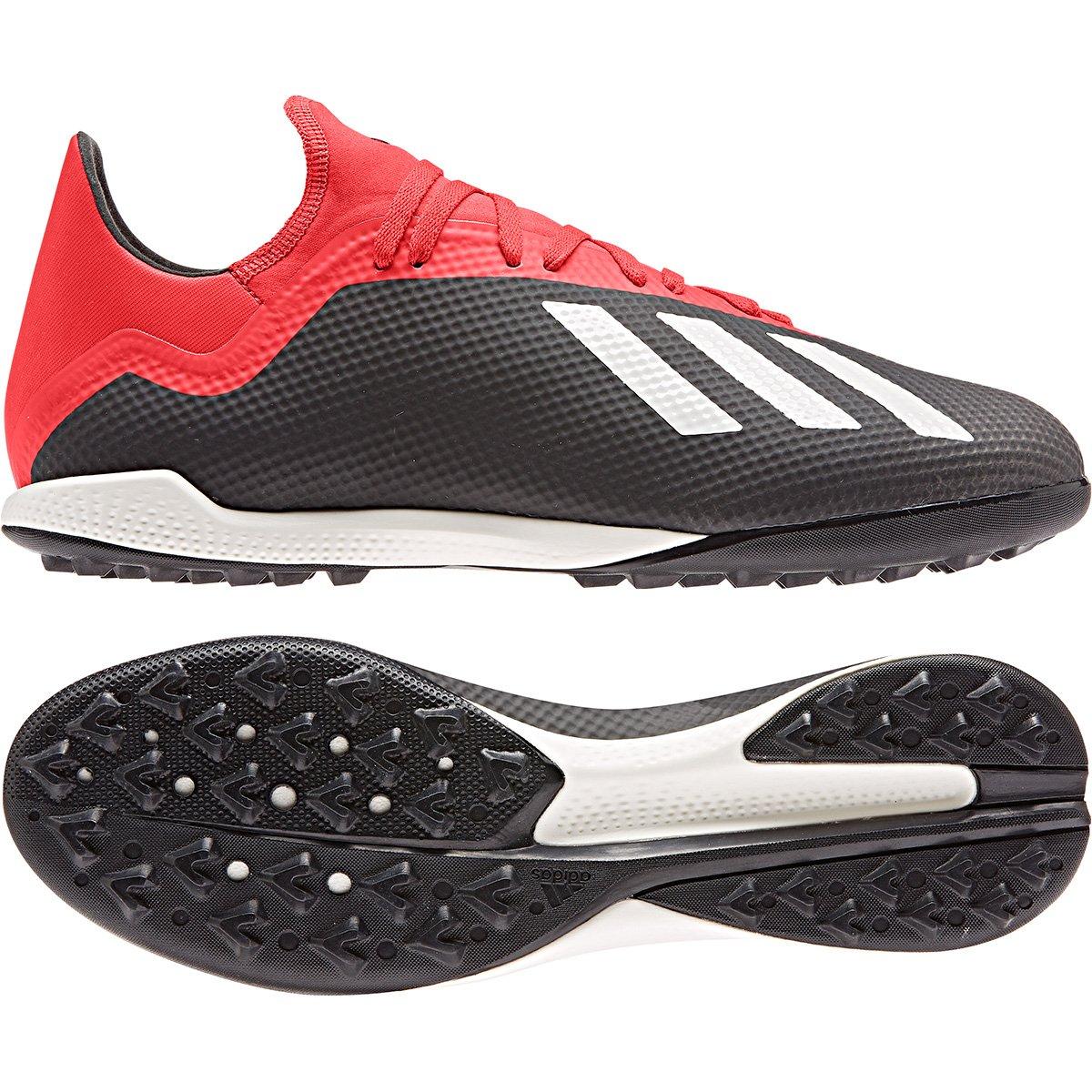 8beb03dd9d835 Chuteira Society Adidas X 18 3 TF - Preto e Vermelho - Compre Agora ...