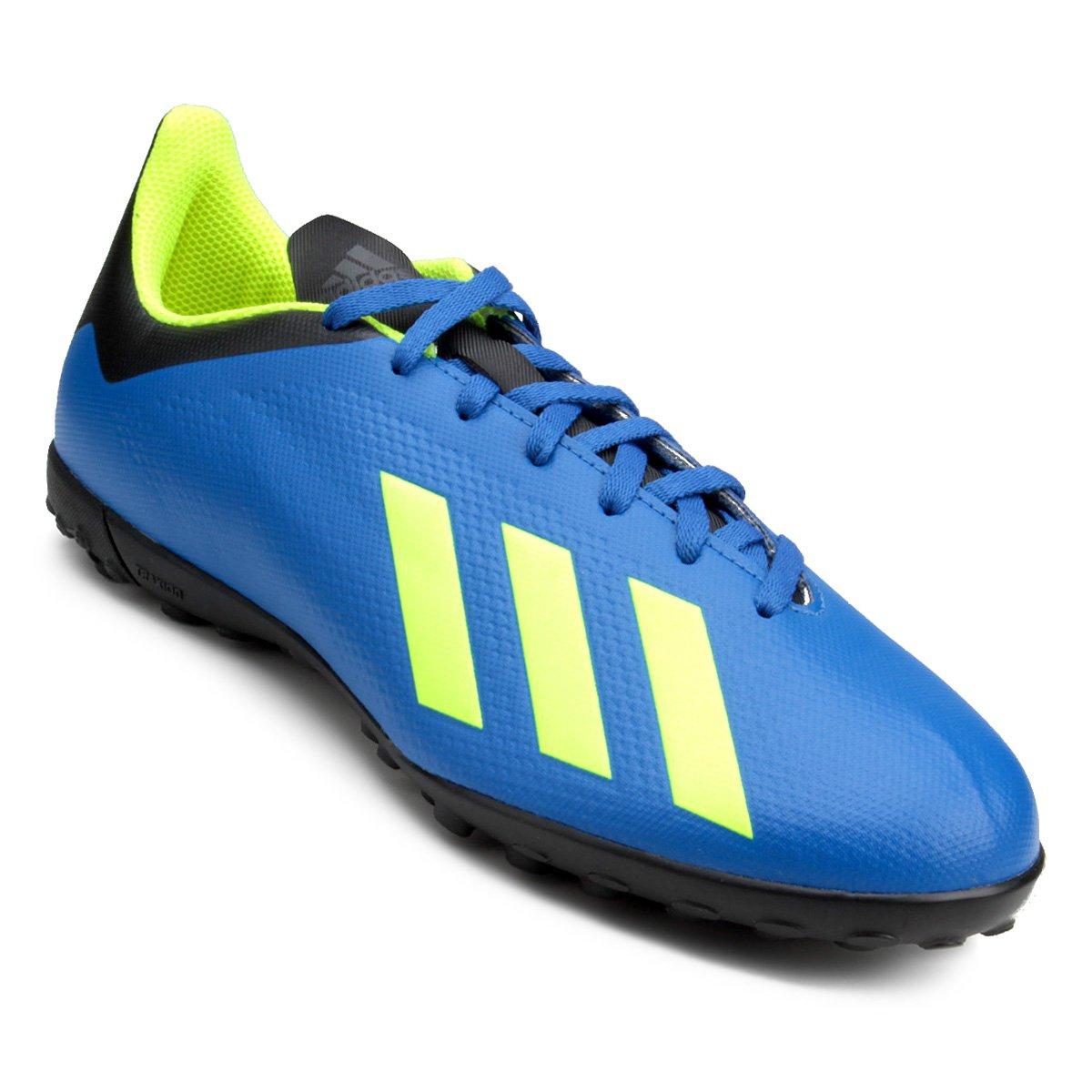 22a3726cd2 Chuteira Society Adidas X Tango 18 4 TF - Azul e Preto - Compre ...