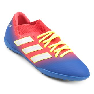 Chuteira Society Infantil Adidas Nemeziz Messi 18 3 TF
