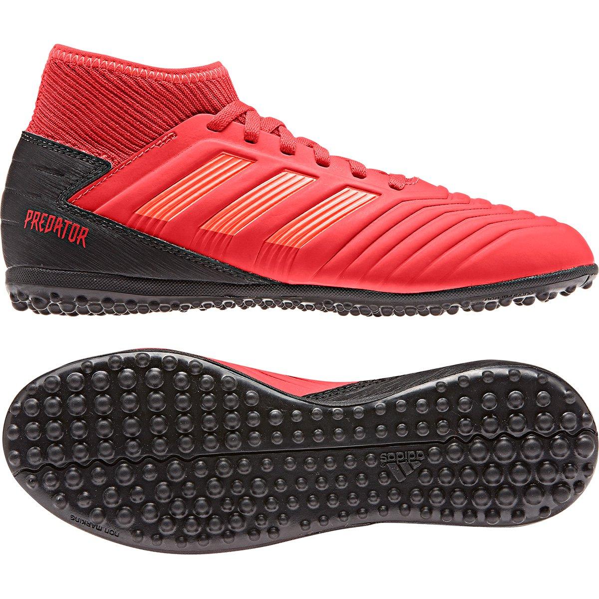 2bcbcf2de0 Chuteira Society Infantil Adidas Predator 19 3 TF - Vermelho e Preto ...