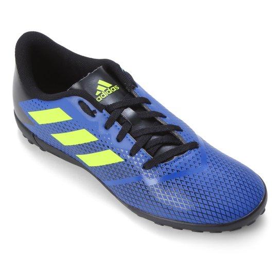Chuteira Society Juvenil Adidas Artilheiras IV - Azul Royal+Amarelo