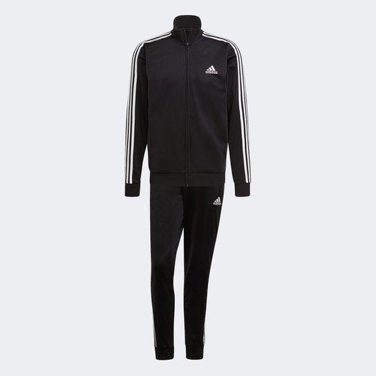 Conjunto Adidas 3 Listras Lawsuit II Masculino - Preto+Off White