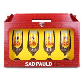 Conjunto de Taças São Paulo Allmix Floripa 300 ml - 4 Unidades