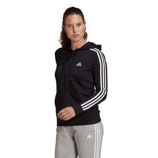 Jaqueta Adidas 3 Listras Capuz Feminina
