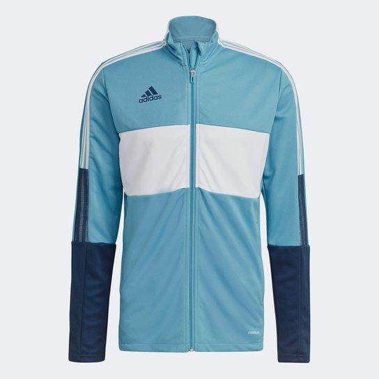 Jaqueta Adidas Tiro Track Masculina - Azul+Branco