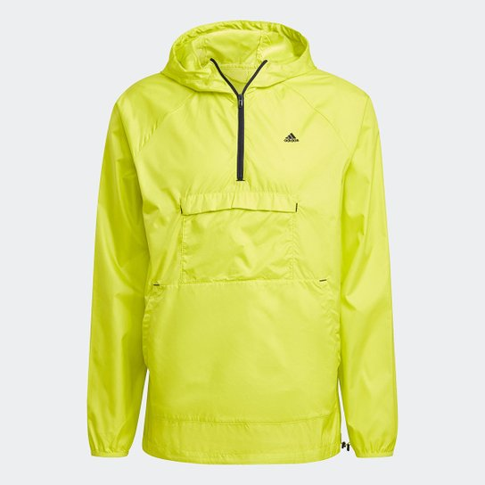 Jaqueta Corta Vento Adidas Designed To Move Ativated Tech Aeroready Masculina - Amarelo