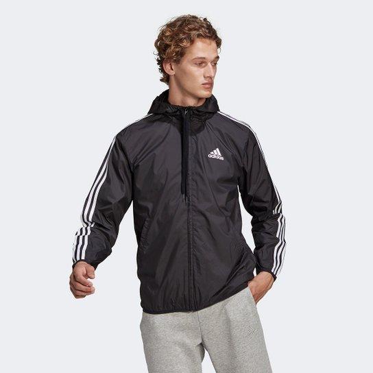 Jaqueta Corta Vento Adidas Essentials Masculina - Preto