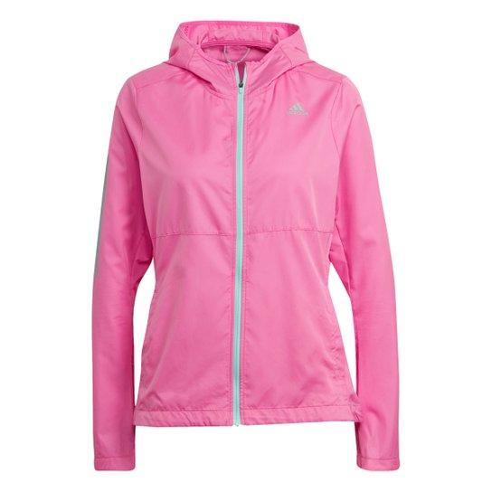 Jaqueta Corta Vento Adidas Own The Run Feminina - Rosa