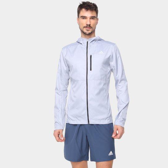 Jaqueta Corta Vento Adidas Own The Run Masculina - Prata