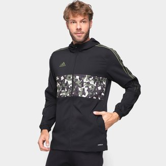 Jaqueta Corta-Vento Adidas Tiro Aop Masculina