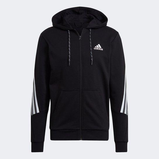 Jaqueta Moletom Adidas Sportwear 3S Masculina - Preto