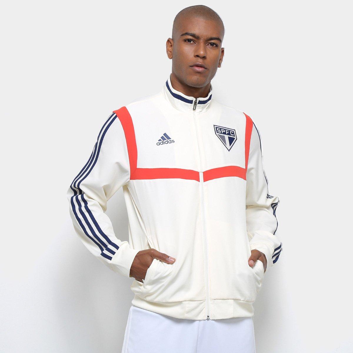 5a78981251 Jaqueta São Paulo Adidas Treino 2019 Masculina - Branco - Compre Agora