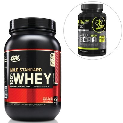 kit-100-whey-gold-standard-2-lbs-optimum-nutrition-bcaa-wild-100-tabs-military-trail-midway