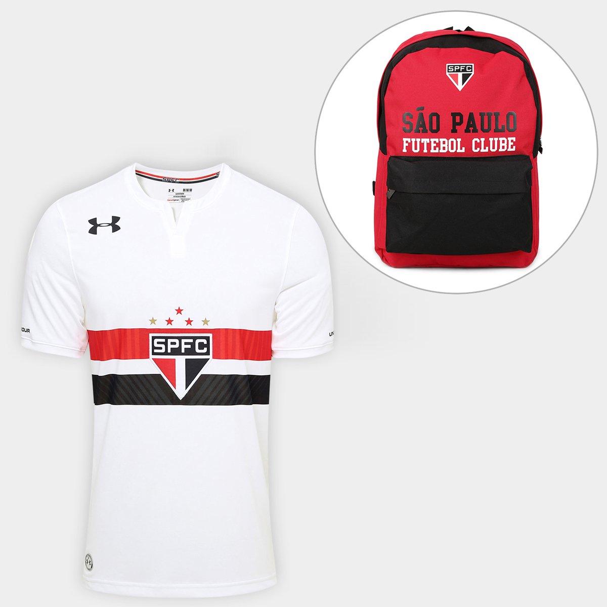 8079b1c6016 Kit Camisa São Paulo I 17 18 s nº Torcedor Under Armour Masculina + Mochila  São Paulo Medium FC 17 - Compre Agora